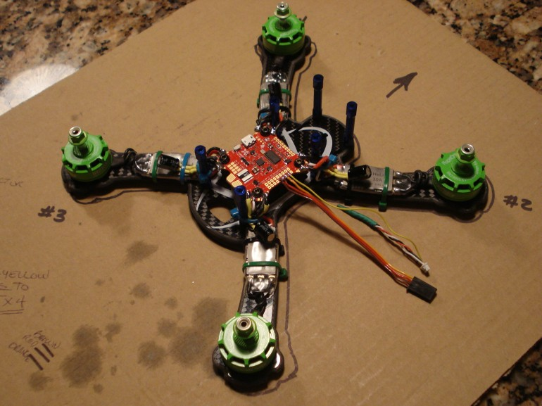 Motors Mounted and soldered
