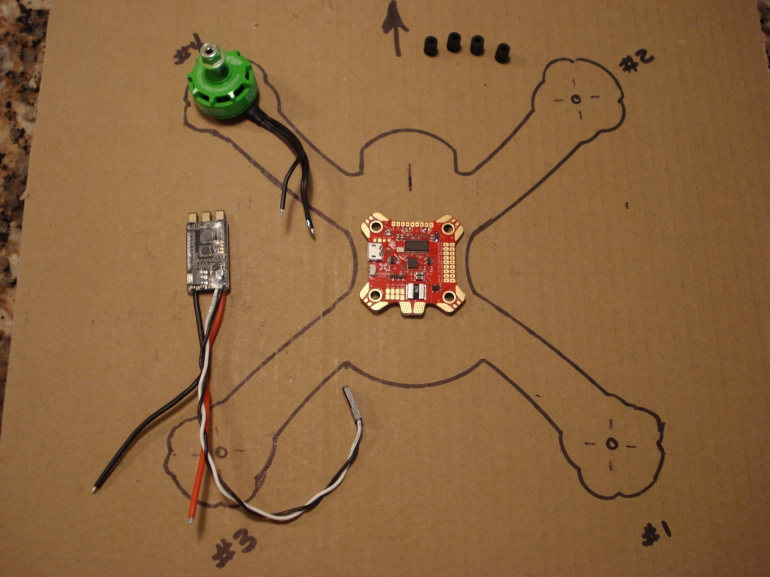 Frame Outline with Motor and ESC